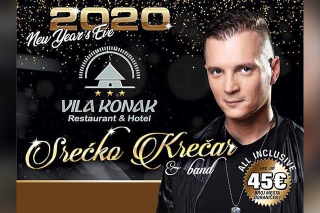 Srećko Krečar za doček Nove 2020. godine u restoranu Stari konak