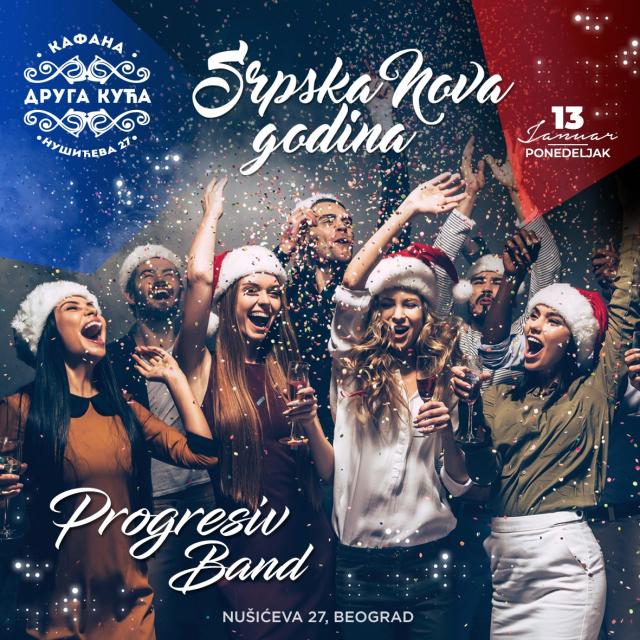 Doček Srpske Nove godine kafana Druga kuća