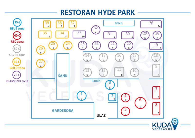 restoran hyde park mapa