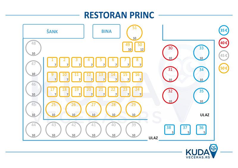 restoran princ mapa