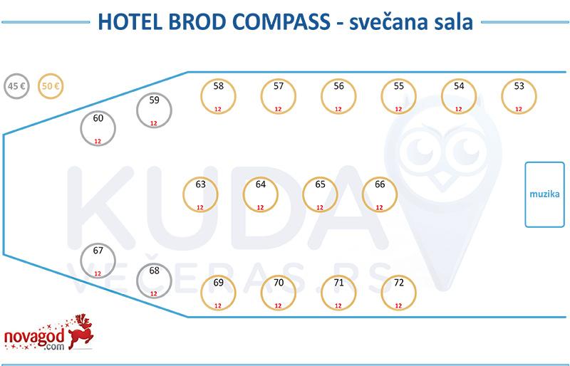 hotel kompas nova godina mapa sedenja svecana sala