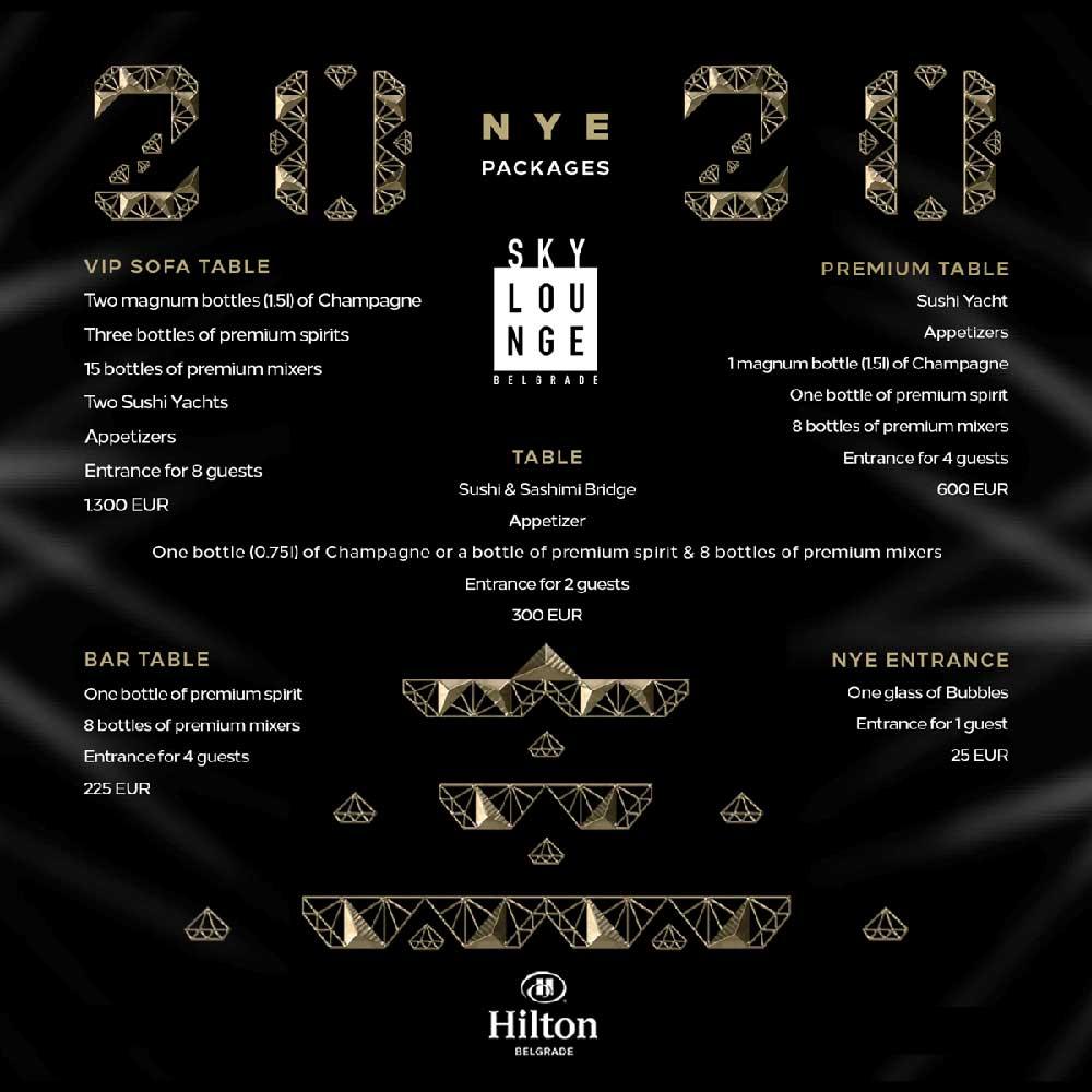 hotel hilton nova godina sky bar