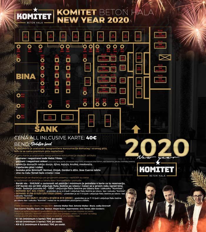 klub komitet nova godina mapa sedenja