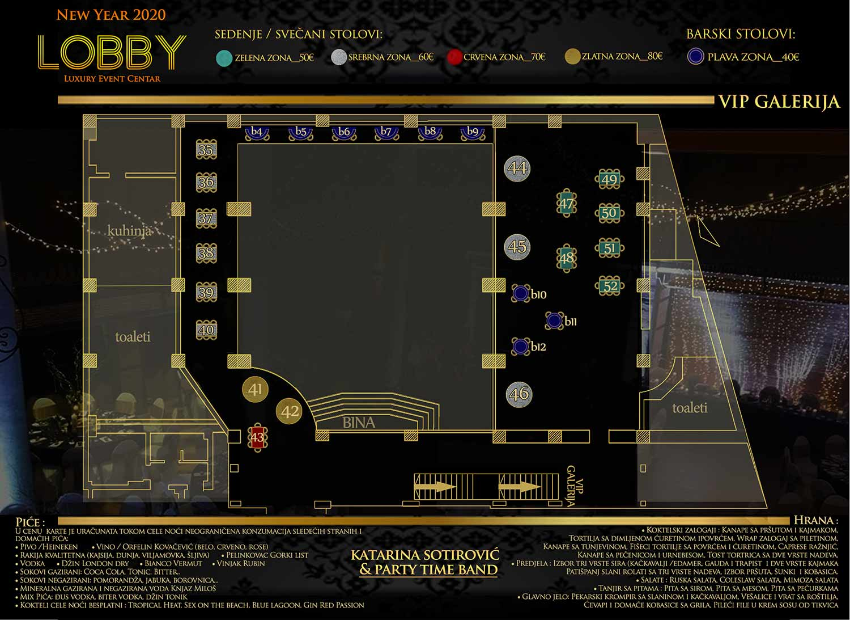 lobby event centar nova godina mapa sedenja vip galerija