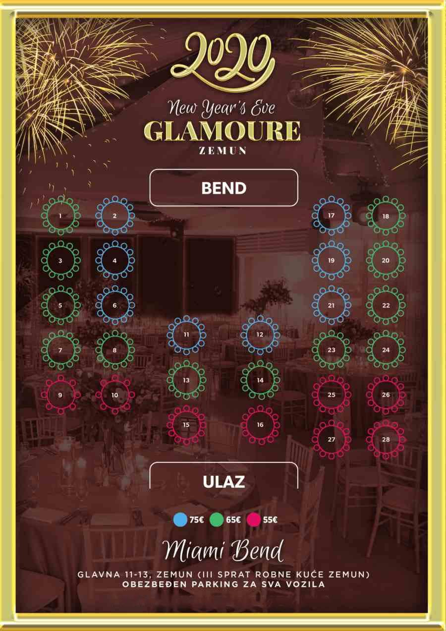 restoran glamoure zemun nova godina mapa sedenja