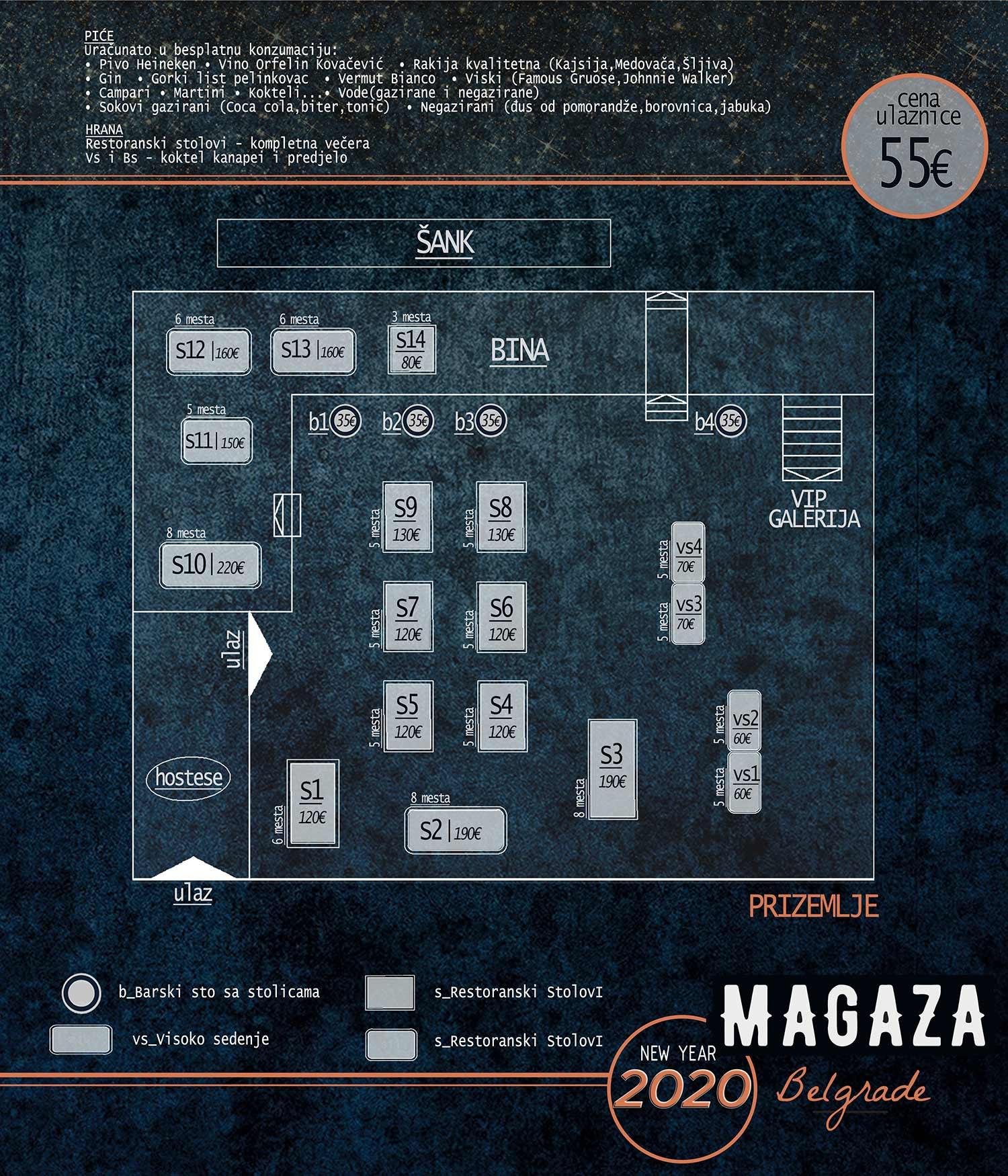 restoran magaza beton hala nova godina mapa sedenja prizemlje