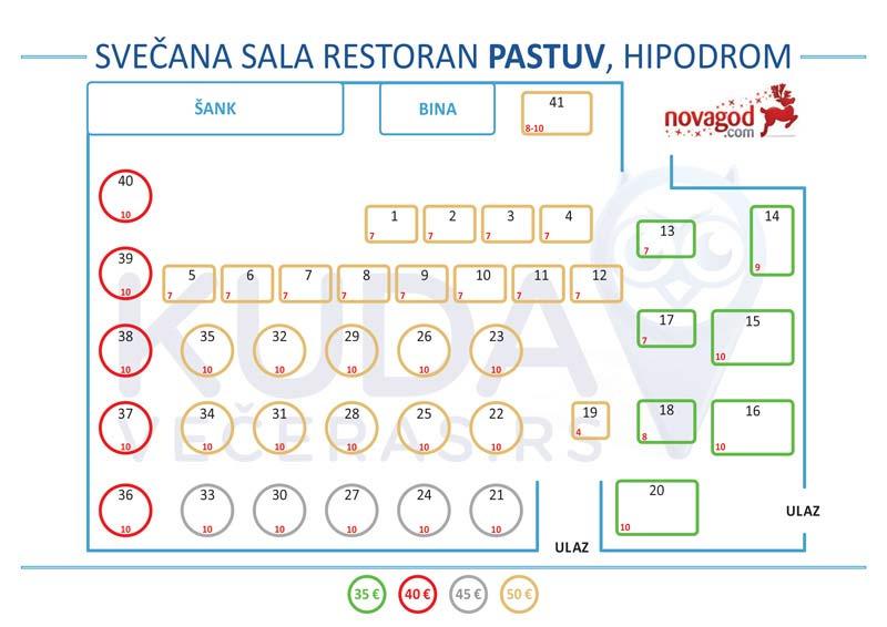 restoran pastuv nova godina mapa sedenja