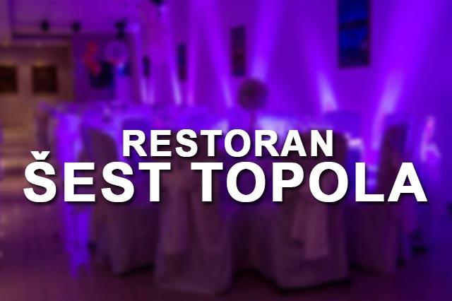 Restoran Šest Topola docek Nove godine