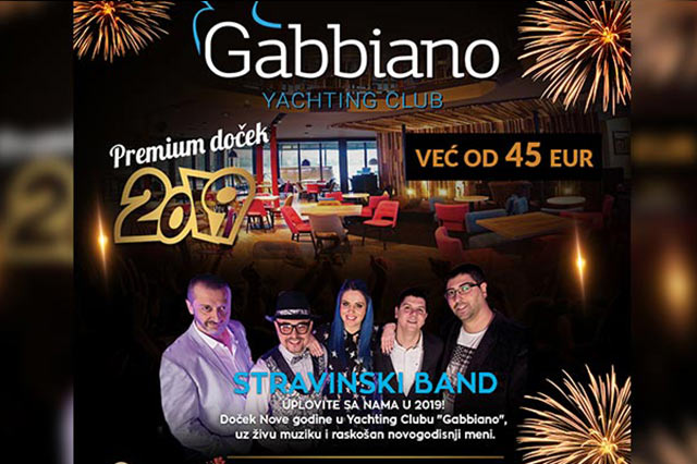 Restoran Gabbiano Doček Nove godine 2019
