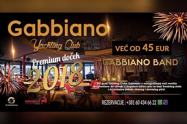 Restoran Gabbiano Doček Nove godine 2018