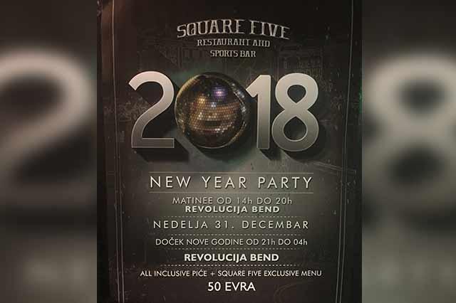 Sqaure Five Pub Doček Nove 2018. godine