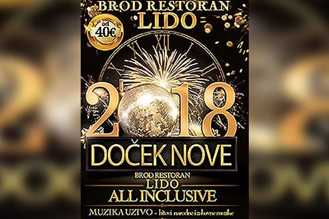 Brod Restoran Lido Doček Nove godine