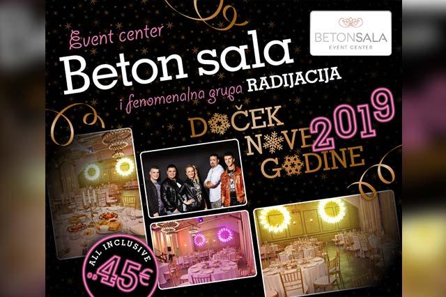 Beton Sala Event Centar Nova godina 2019