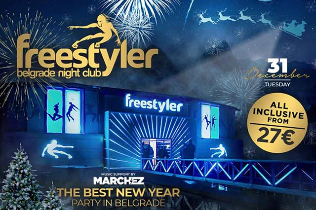Splav Freestayler - Doček Nove godine