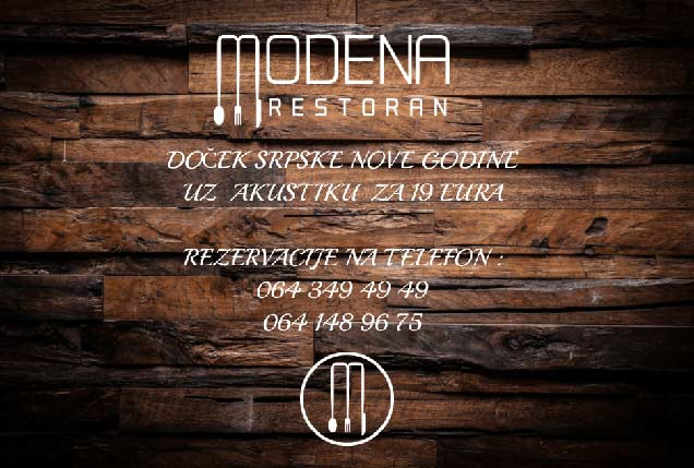 Restoran Modena Art Doček Srpske Nove godine