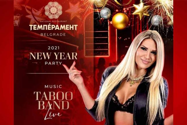 Restoran Temperament doček Nove godine